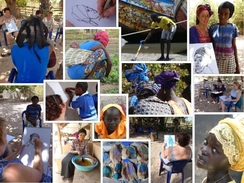 tekenatelier gerdie schiphorst-culturele uitdaging in gambia